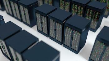 Server Racks In Server Room Cloud Data Center